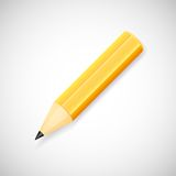 Yellow pencil, isolated on white background. Vector pencil black and yellow color, isolated on white background Royalty Free Stock Images