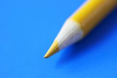 Yellow pencil in macro Royalty Free Stock Photo