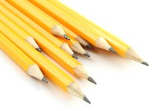 Yellow Pencils. On a white background Stock Image