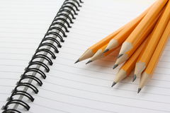 Yellow pencils stock image