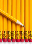 Yellow pencils Stock Images