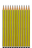 Yellow pencils Royalty Free Stock Image