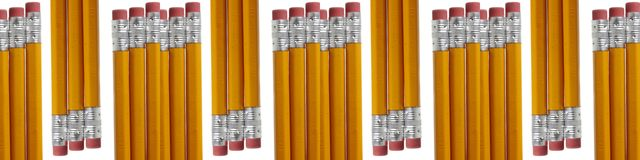 Pencils and Erasers Royalty Free Stock Images