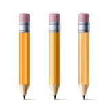 Yellow pencils. Set of yellow pencils  on white background. Vector illustration Stock Image