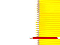yellow pencils with single red Stock Photography