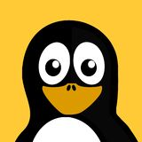 Yellow, Penguin, Bird, Beak royalty free stock images