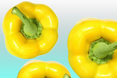 Yellow peper. Top views of yellow pepers Stock Photos