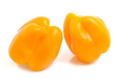 Yellow pepper. Two yellow pepper on white background Royalty Free Stock Images