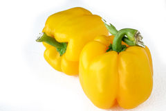 Yellow pepper. Isolated Close up of a yellow pepper vegetable stock photography