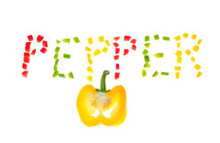 Yellow pepper. Royalty Free Stock Photography