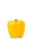 Yellow pepper. Big fresh yellow pepper isolate on white Royalty Free Stock Photo