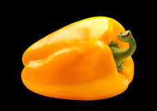 Yellow pepper on black Royalty Free Stock Photo