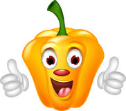 Yellow Pepper Character giving thumbs up Stock Image
