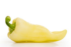 Yellow pepper isolated royalty free stock photography