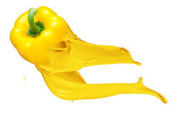 Yellow pepper isolated on white Royalty Free Stock Photography
