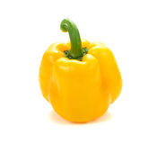Yellow pepper over white background. sweet yellow pepper isolate. Yellow pepper over white background. sweet yellow pepper on white background royalty free stock image