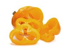 Yellow pepper slice Stock Photos