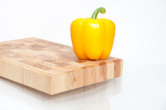 Yellow pepper  on white Royalty Free Stock Image