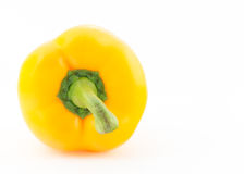 Yellow pepper  on white background Royalty Free Stock Image