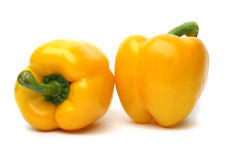 Yellow Peppers Stock Photo