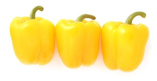 Yellow peppers Stock Photography