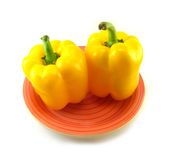 Yellow peppers Royalty Free Stock Images