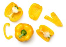 Yellow Peppers Isolated on White Background Royalty Free Stock Images