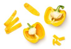 Yellow Peppers Isolated on White Background Stock Image