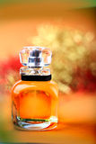 Yellow perfume bottle Royalty Free Stock Image