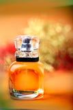 Yellow perfume bottle Royalty Free Stock Image