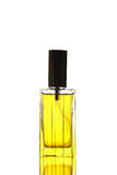 Yellow Perfume Bottle isolated. Royalty Free Stock Images