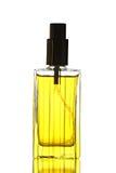 Yellow Perfume Bottle isolated. Royalty Free Stock Image