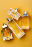 Yellow perfume bottles Royalty Free Stock Photography