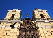 Yellow Peruvian church Royalty Free Stock Photos