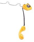 Yellow phone Stock Image
