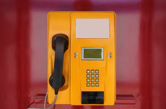 Yellow phone Stock Photos