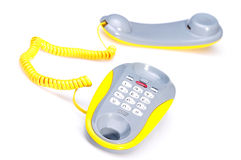 Yellow phone Royalty Free Stock Images