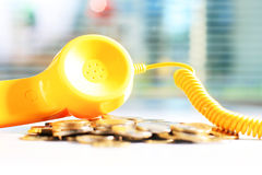 Yellow phone Stock Images