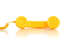 Yellow phone Stock Photo