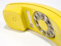 Yellow phone1. Yellow rotary phone Stock Photos
