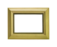 Yellow photo frame Stock Image