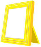 Yellow photo frame. An isolated rectangular photograph frame Royalty Free Stock Images