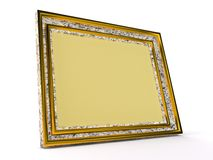 Yellow photoframe Stock Photos