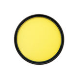Yellow photography filter Royalty Free Stock Photo