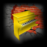 Yellow piano Royalty Free Stock Images