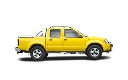 Yellow pick-up truck Royalty Free Stock Images