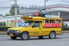 Yellow Pick up truck taxi chiangmai Royalty Free Stock Photo