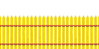 Yellow picket fence Royalty Free Stock Photography