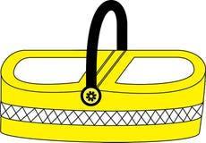 Yellow Picnic Basket Stock Images