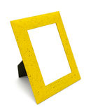 Yellow picture frame Stock Images